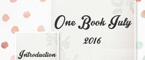 One Book July 2016 – Introduction