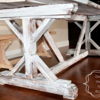 DIY farmhouse table finish