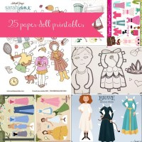 25 {or more} Paper Doll Printables