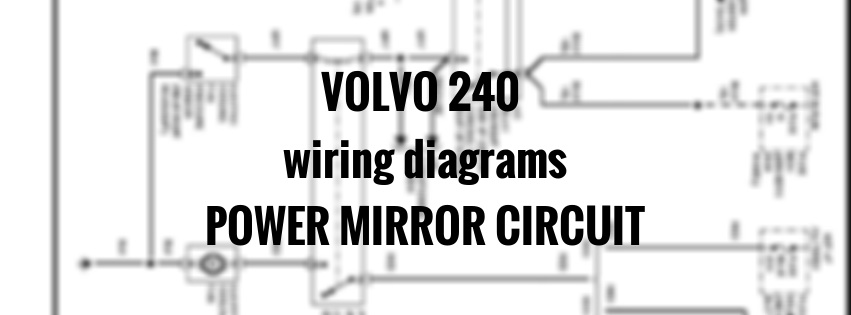 volvo 240 wiring diagrams