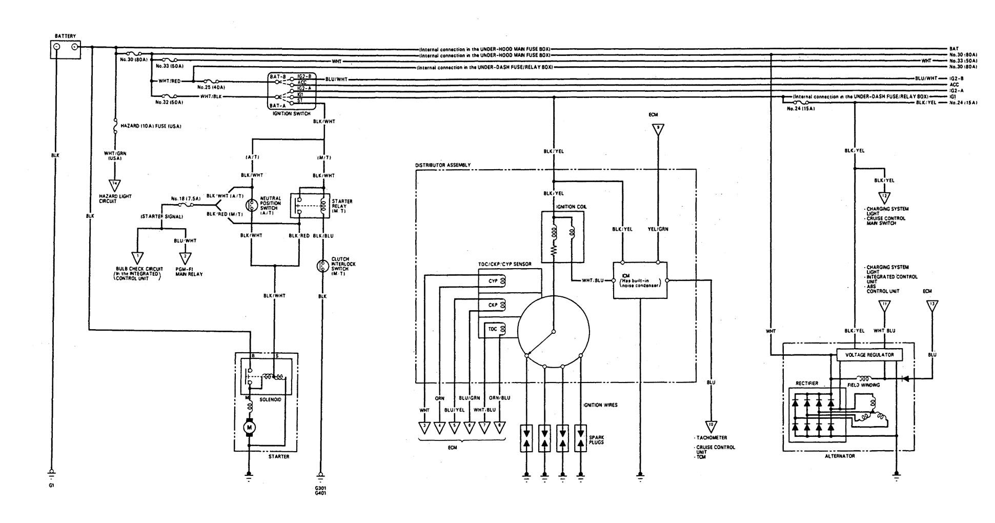 1993 honda integra electrical wiring diagram