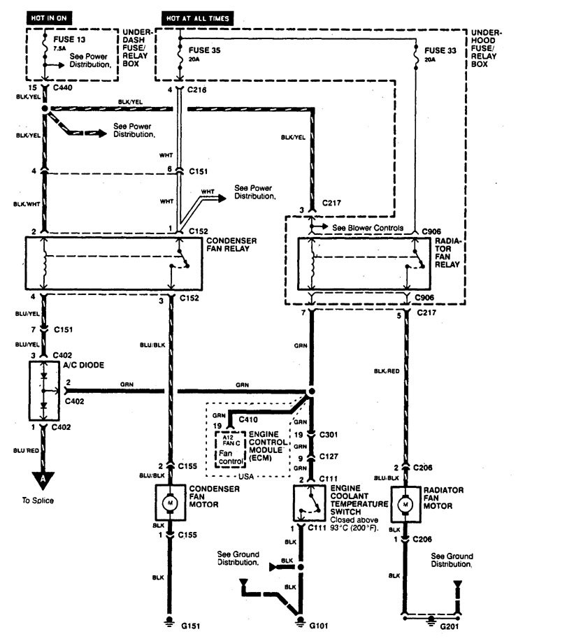 engine cooling fan wiring harness