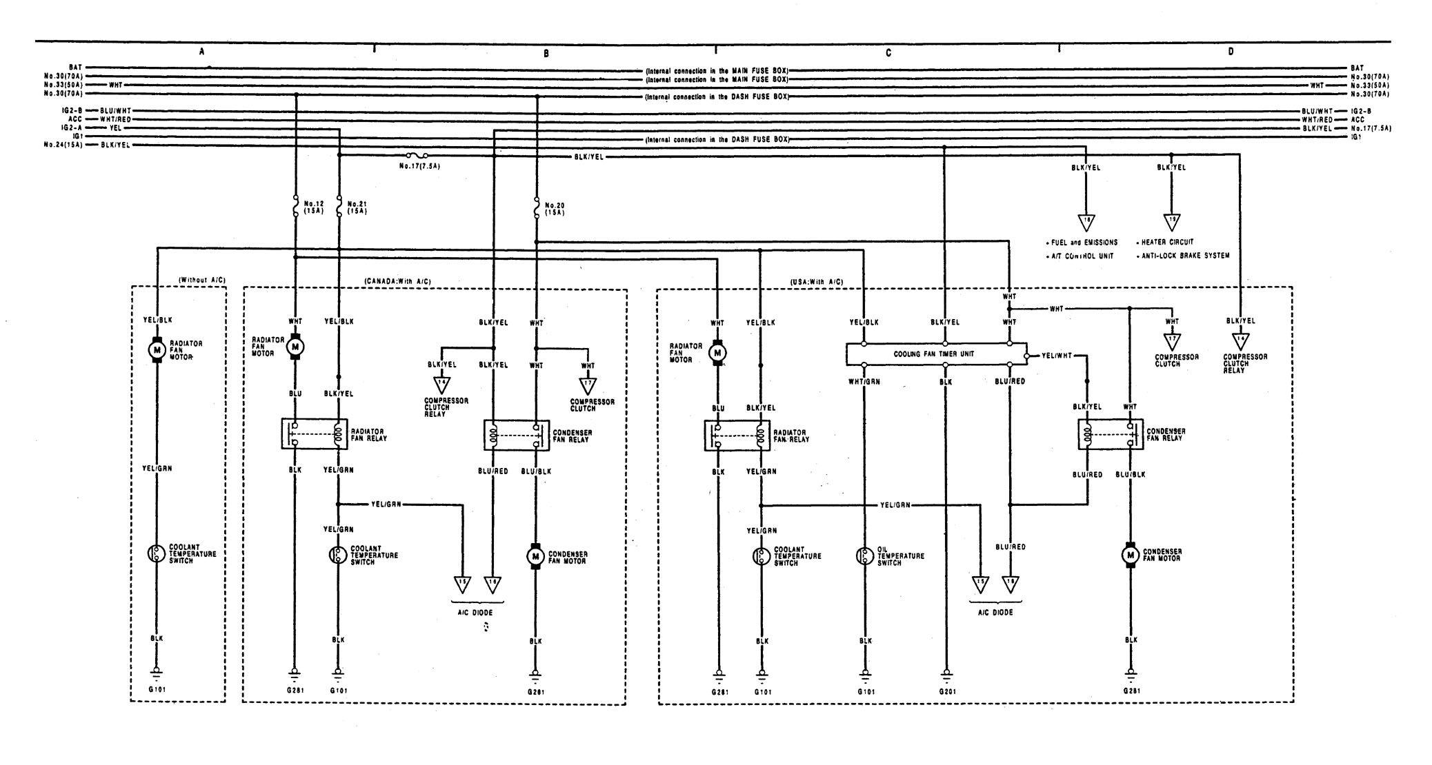 wiring diagram for 1991 honda crx