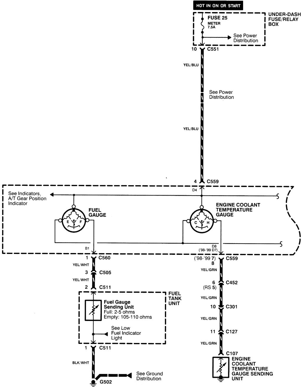 1998 integra fuse diagram