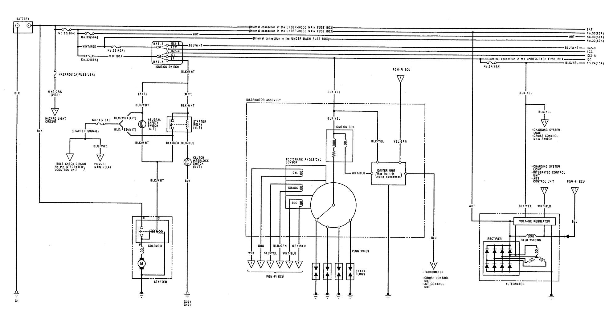 1991 acura integra engine wiring diagram