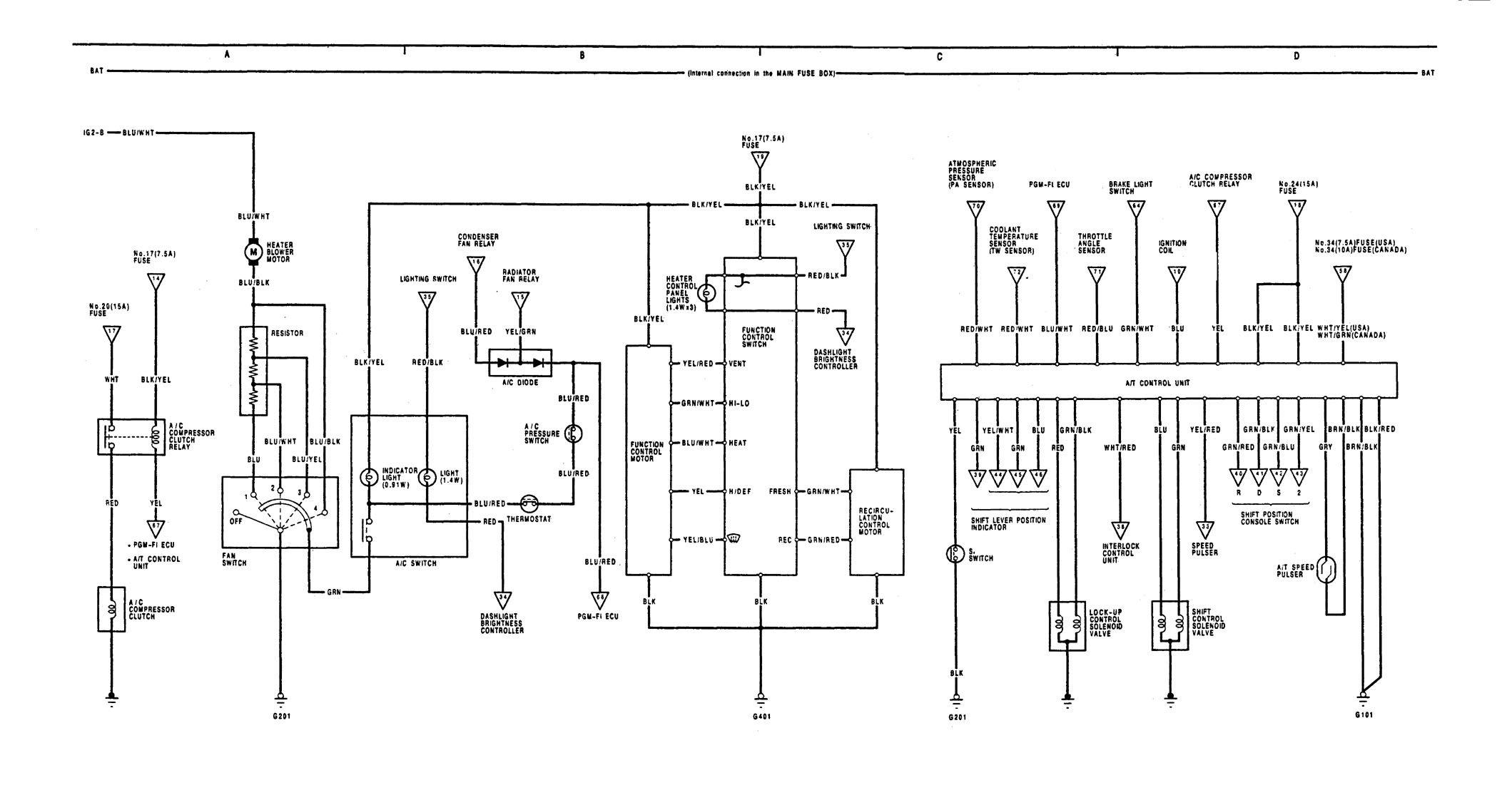 1991 integra fuse box diagram