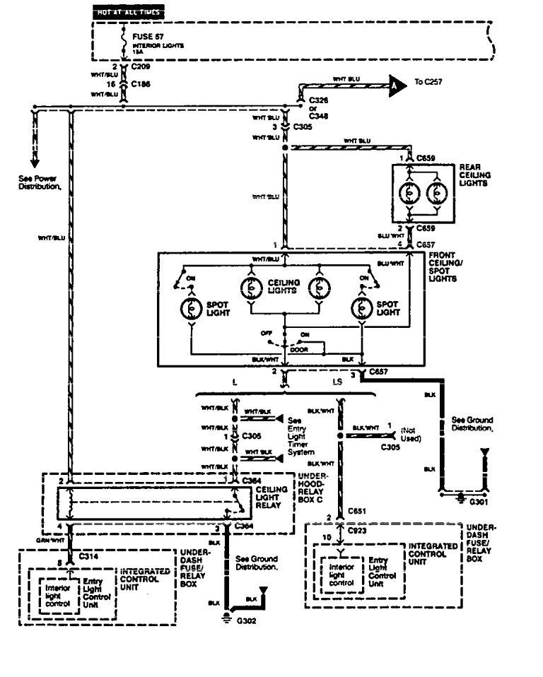 acura lights wiring diagram
