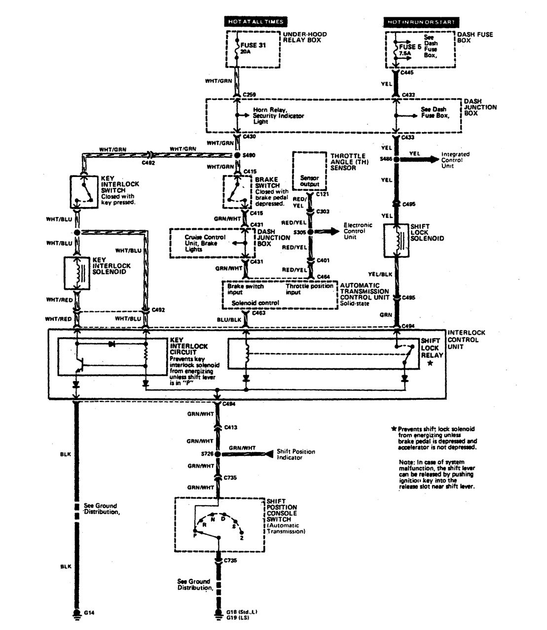 1990 acura legend fuse box diagram
