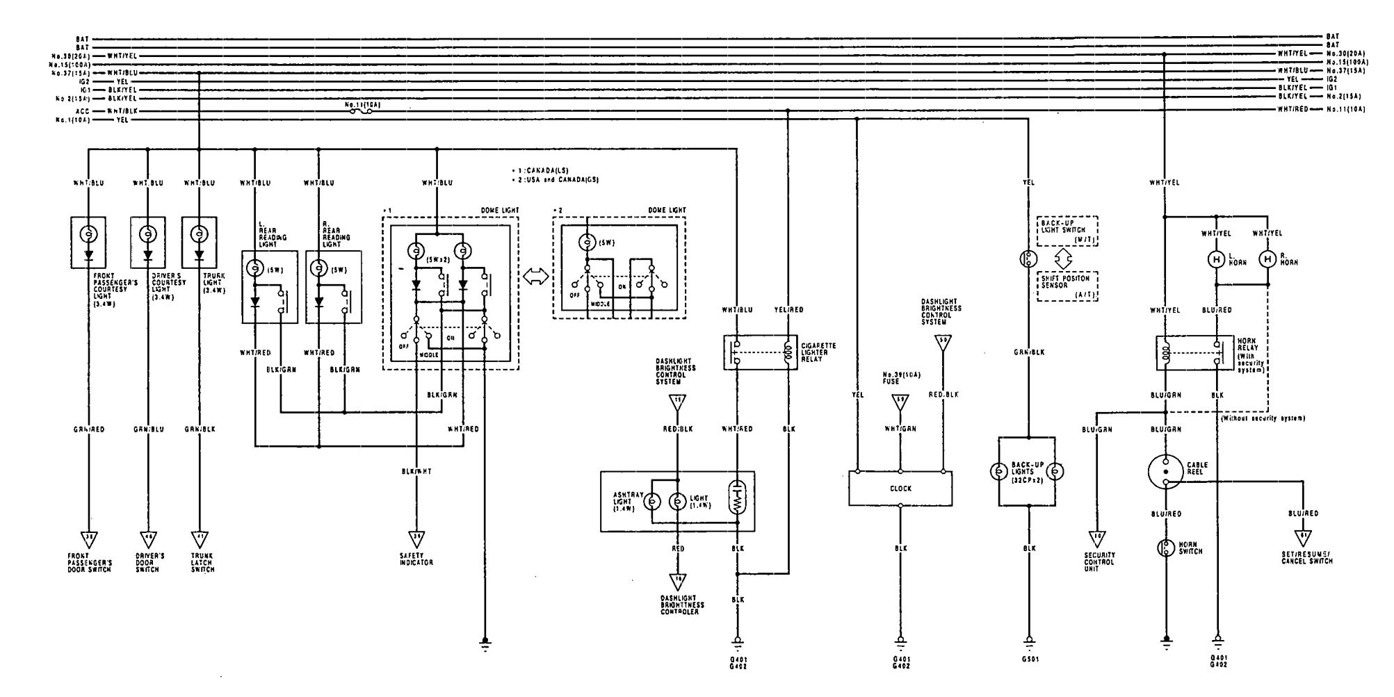1992 acura vigor fuse box diagram