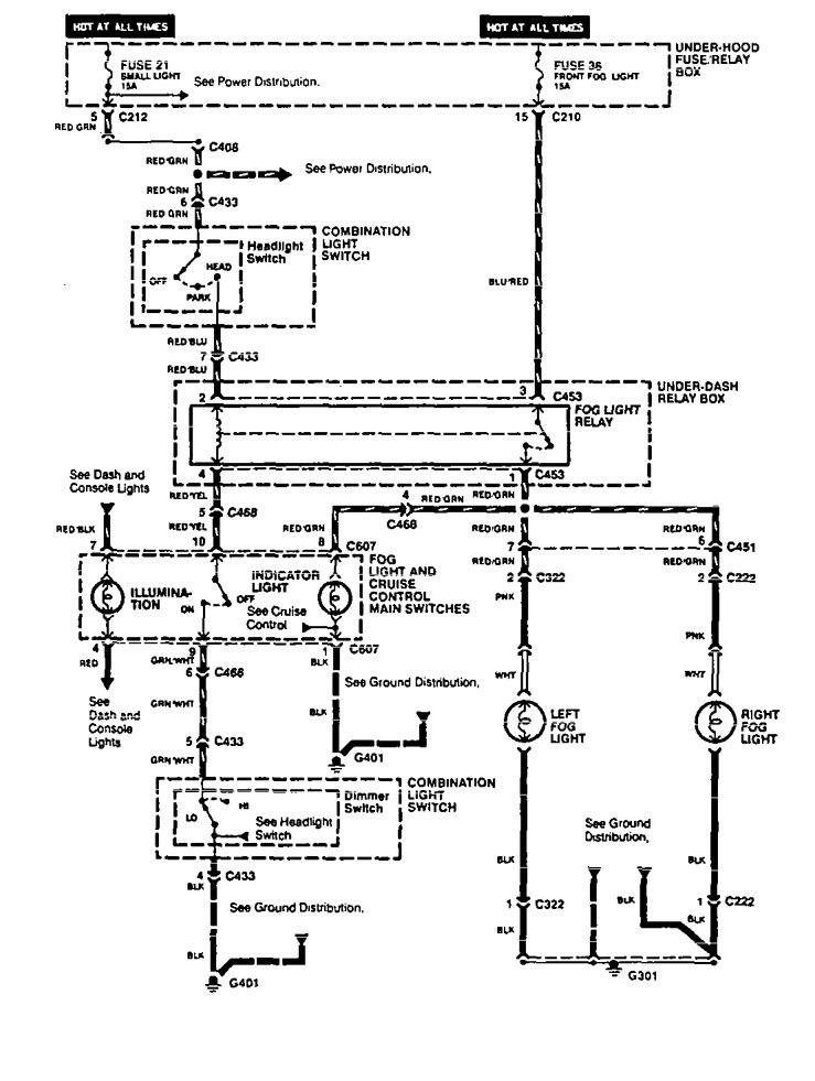 1994 acura vigor fuse box
