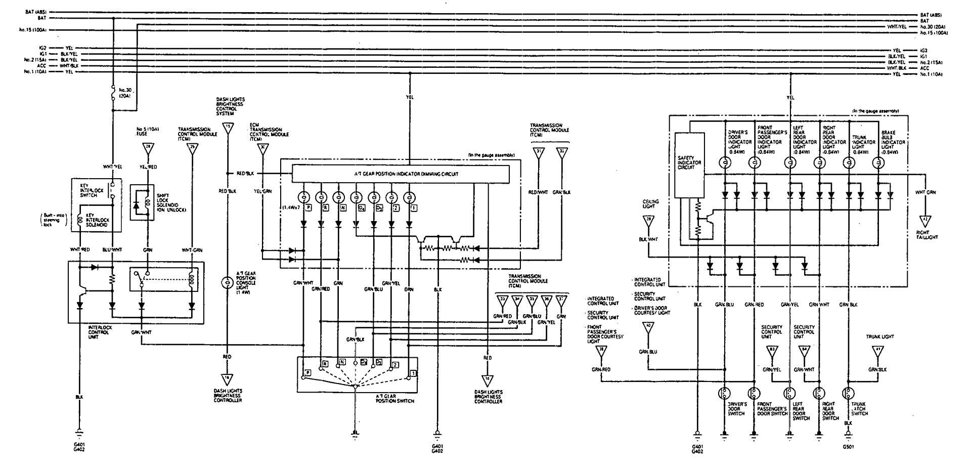 car gear shift indicator wiring diagram