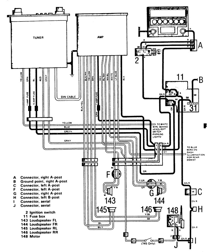 volvo 740 wiring diagram 1986