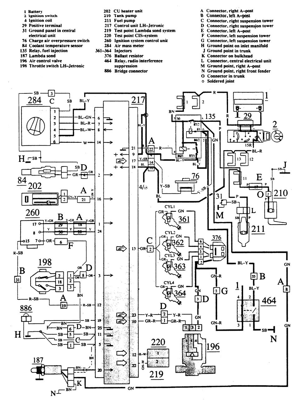 volvo 740 fuel pump relay wiring diagram