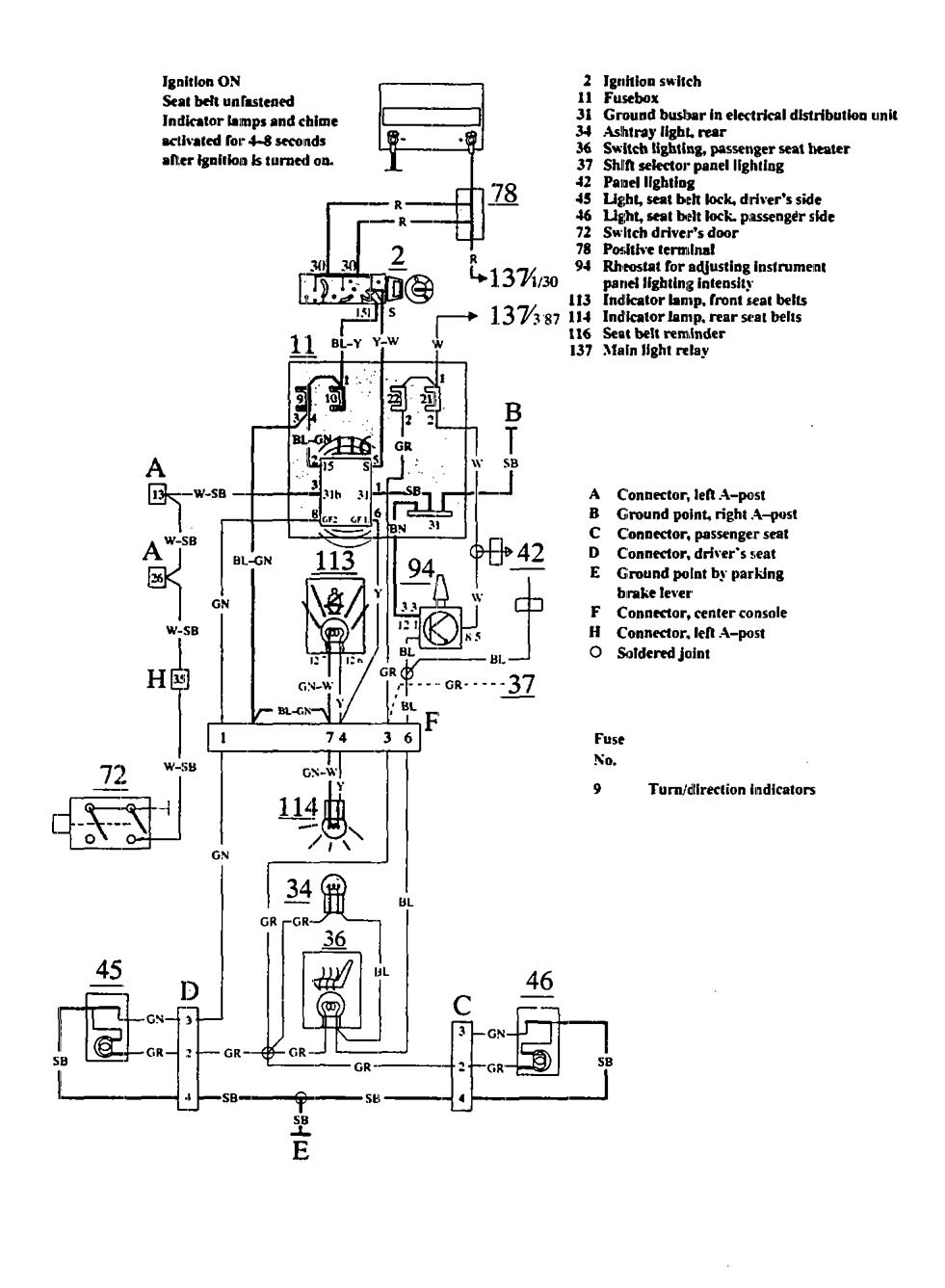 volvo 740 headlight wiring diagram