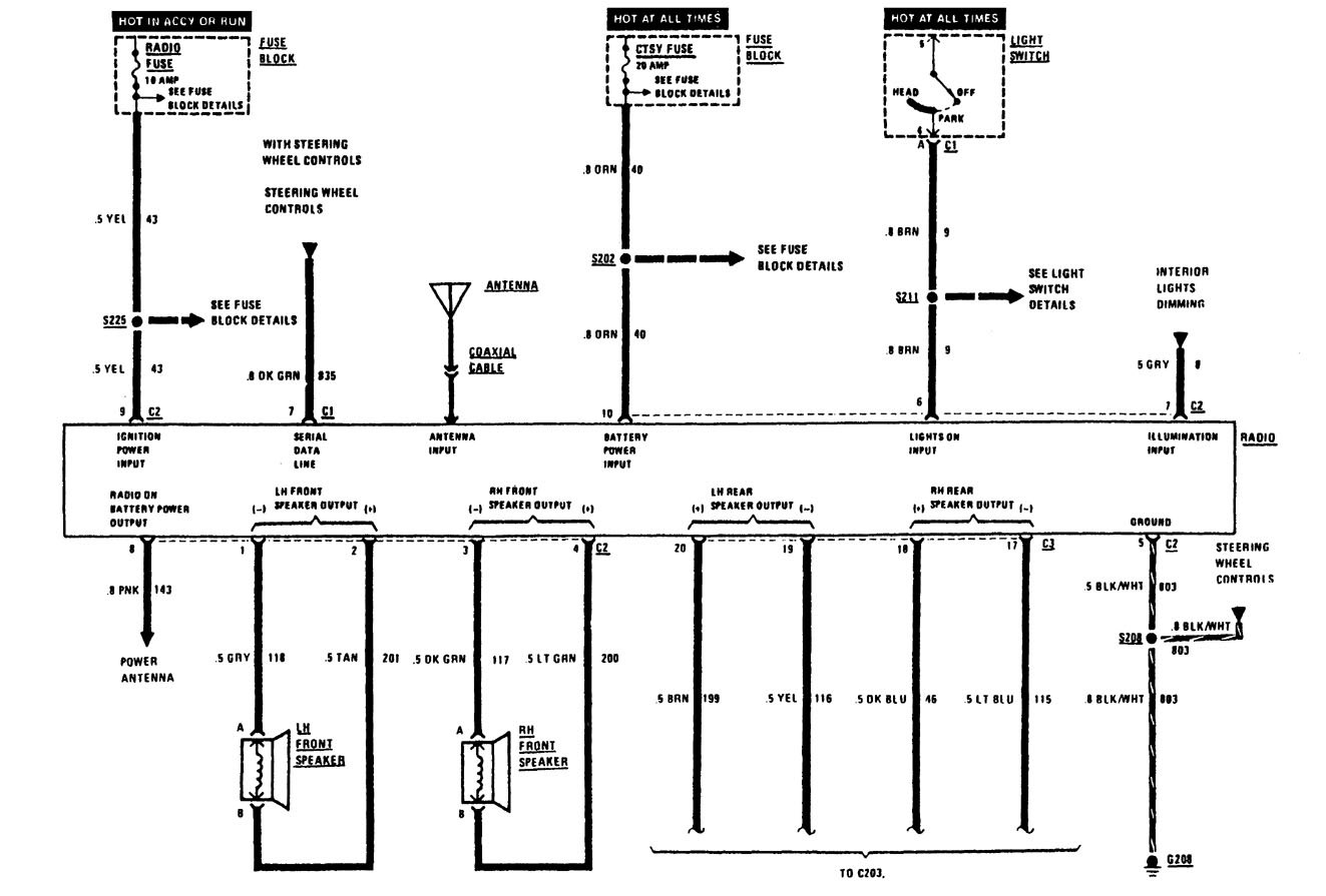 car audio wiring 1991 volvo 240