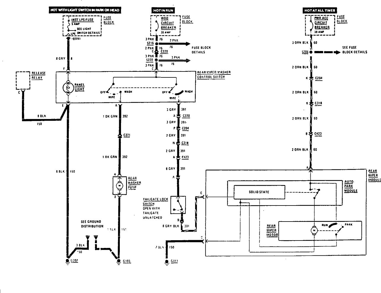 acura wiper wiring diagram