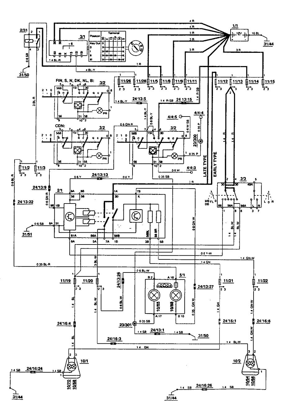 volvo 850 horn wiring diagram