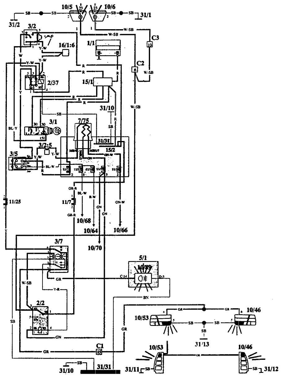 1993 volvo 940 engine diagram