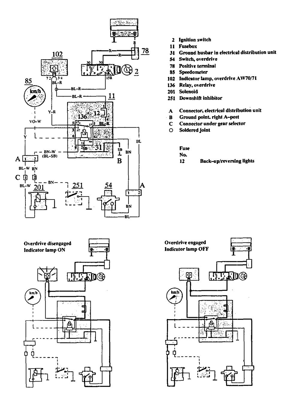 volvo 940 1991 wiring diagrams