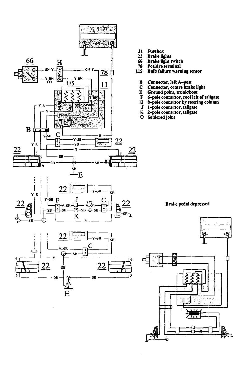 1993 volvo 240 fuse diagram