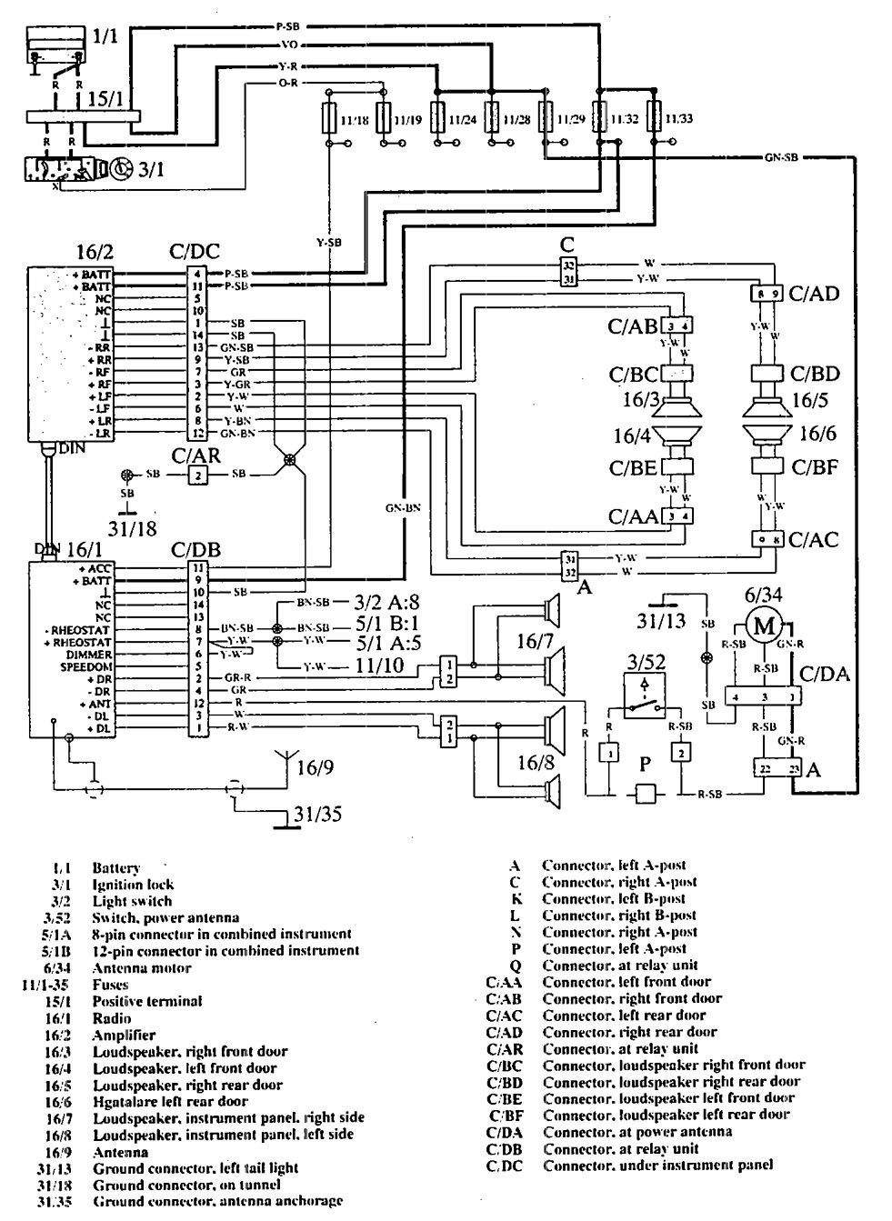 volvo 960 wiring diagram 1996