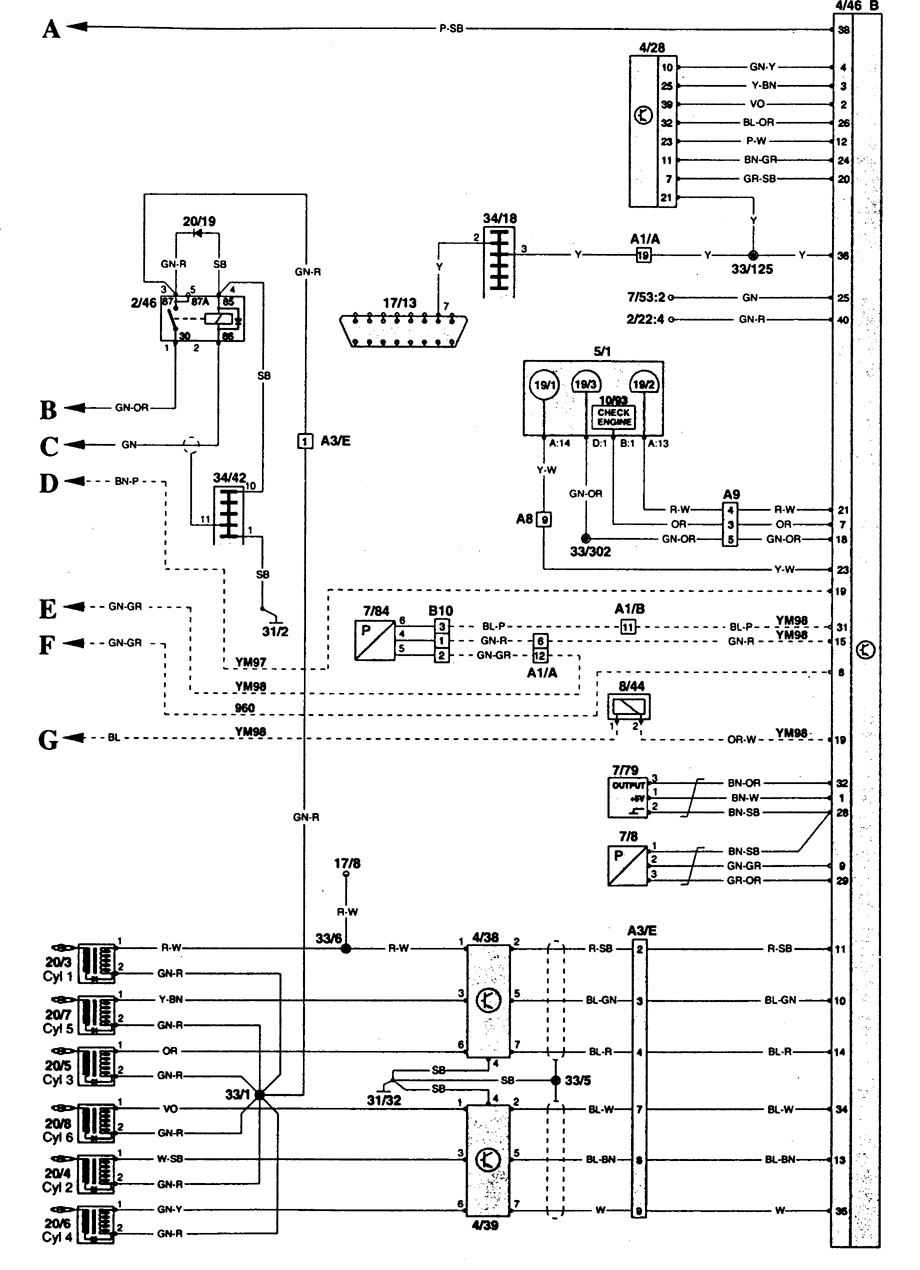volvo 960 1995 wiring diagrams