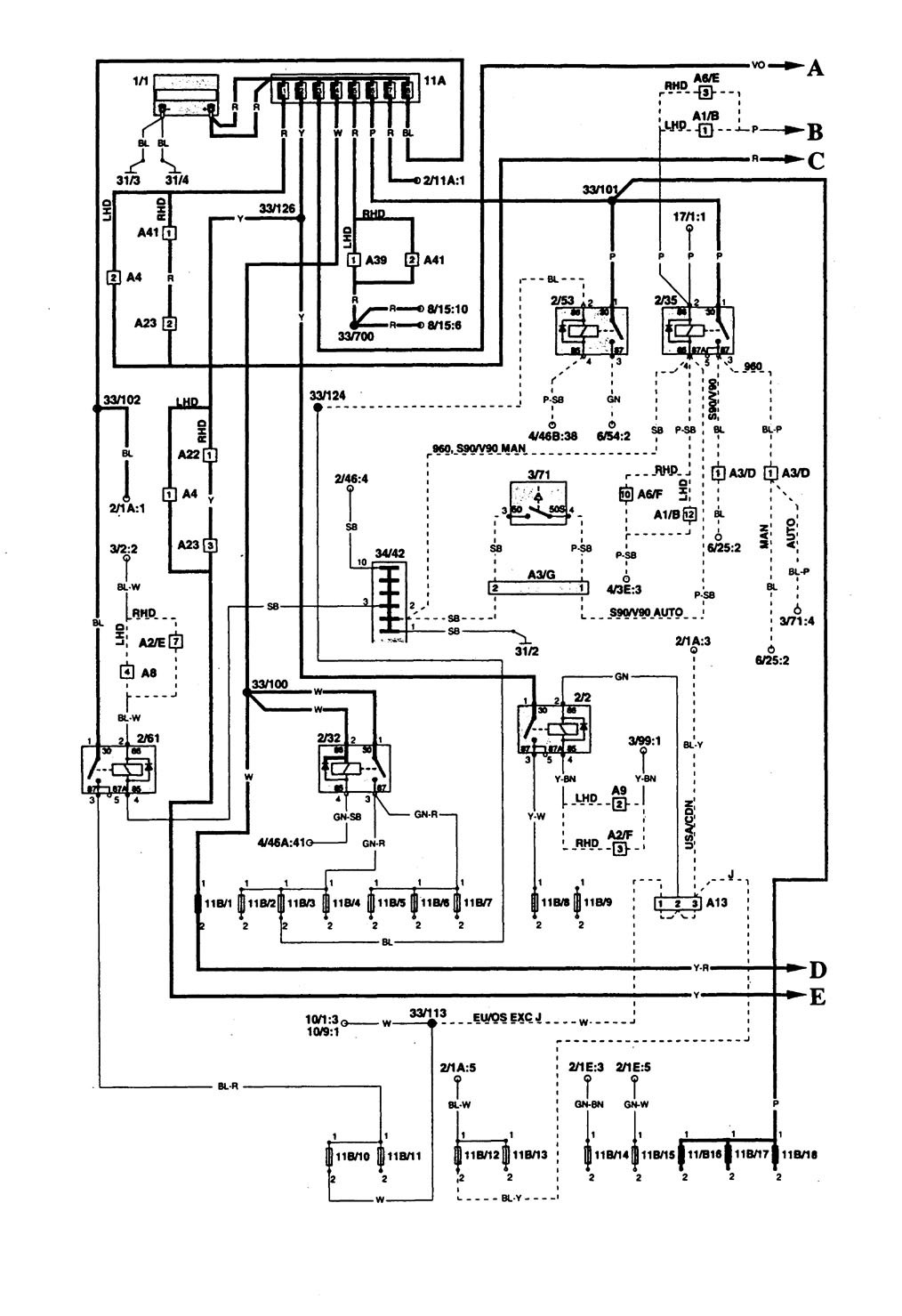 1995 volvo 960 wiring diagram