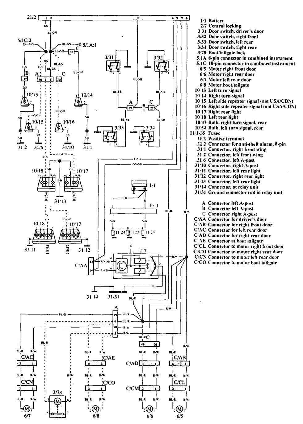 wiring diagram for 1999 volvo s70 wiring diagram