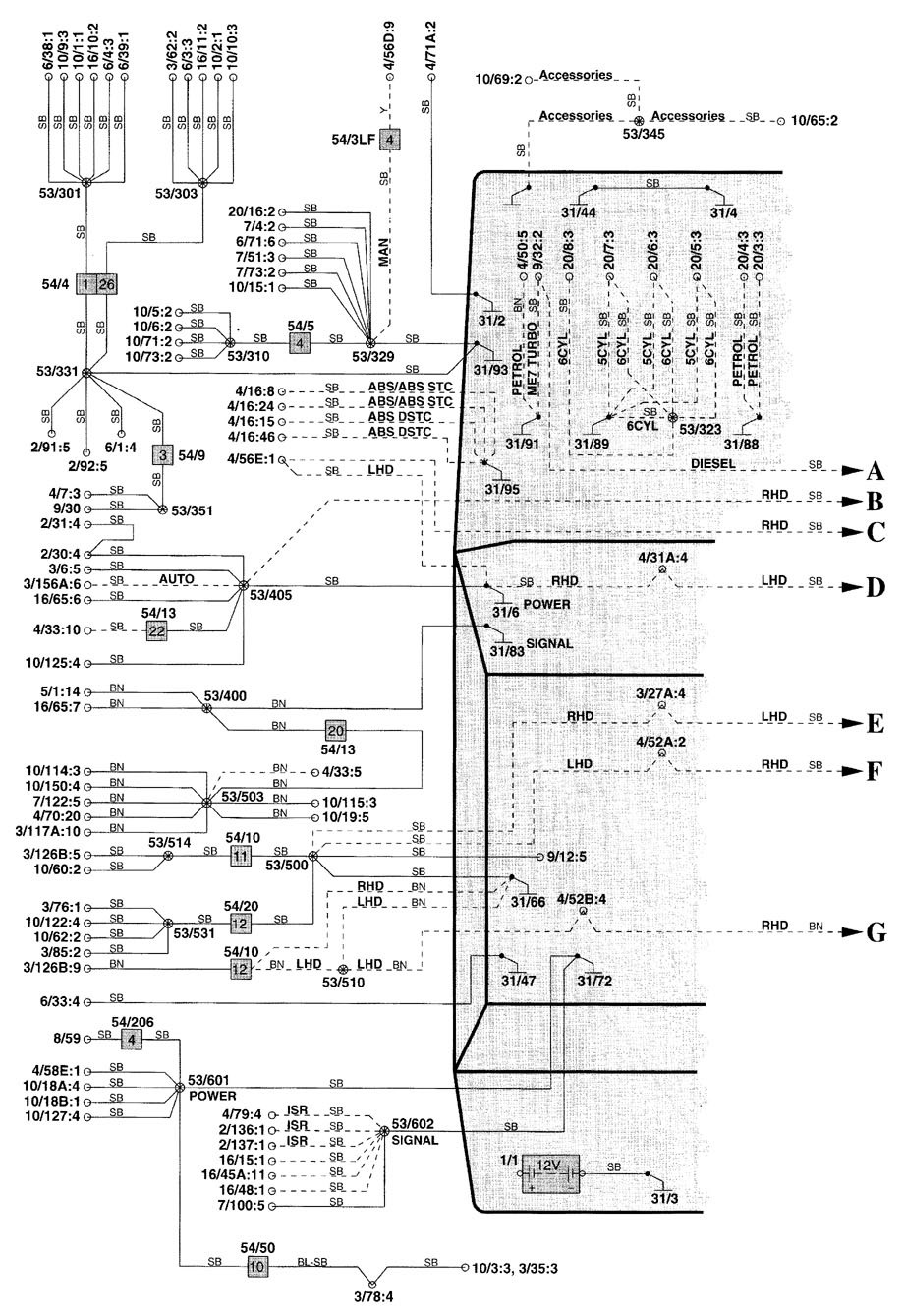 2000 volvo v70 fuse box diagram