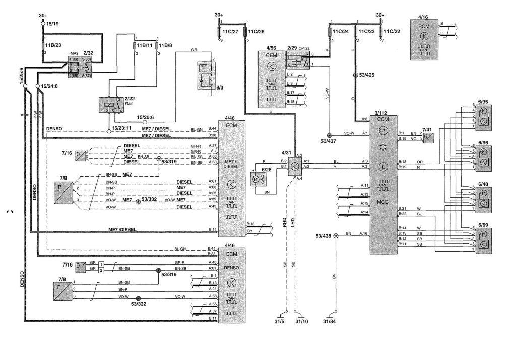 Volvo V70 2 5 Tdi Wiring Diagram Volvo v wiring diagrams power