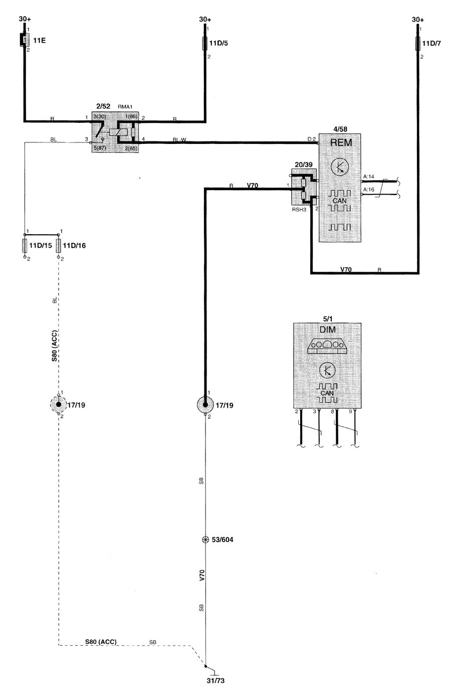 2000 volvo v70 wiring diagram