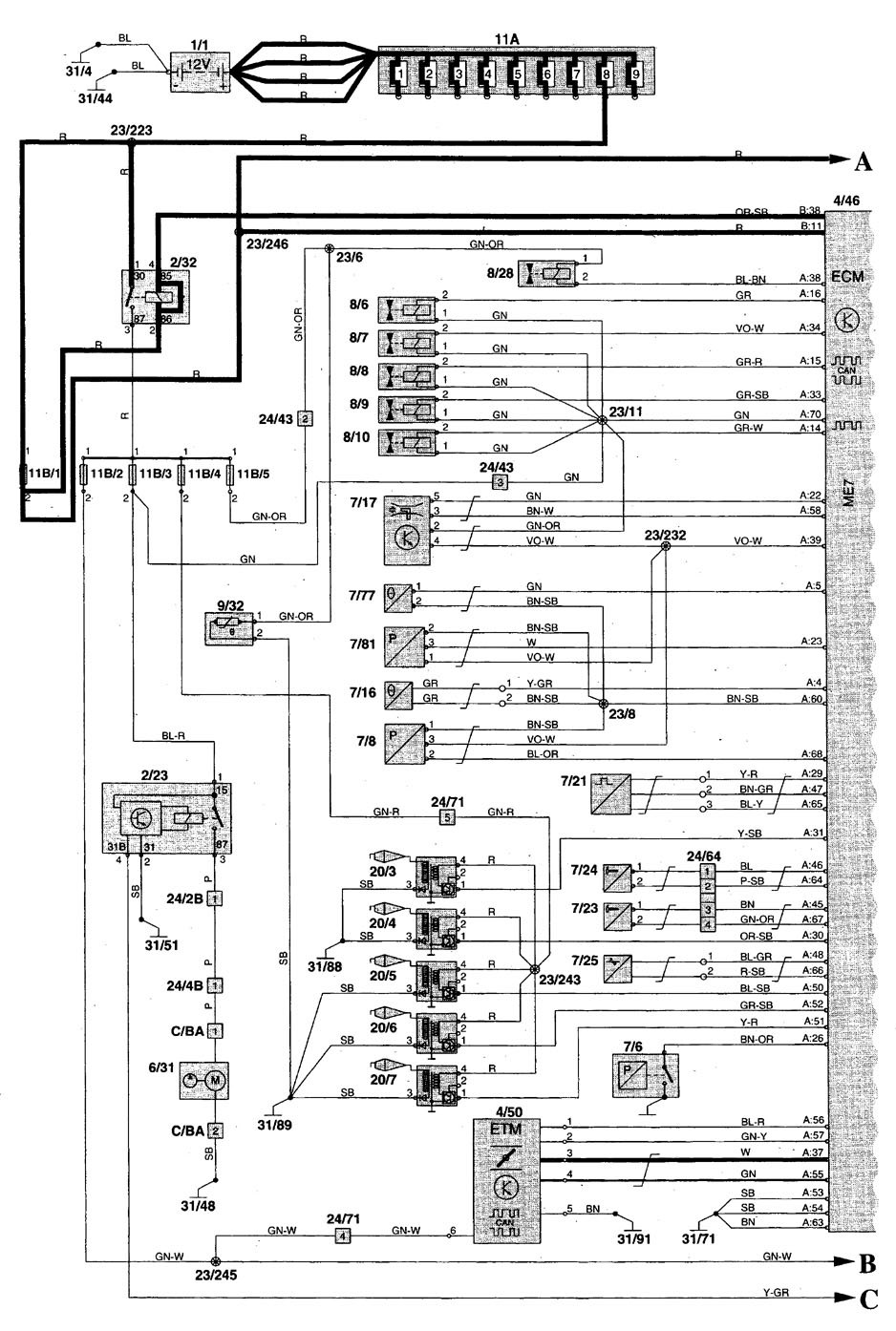 volvo wiring diagrams c70
