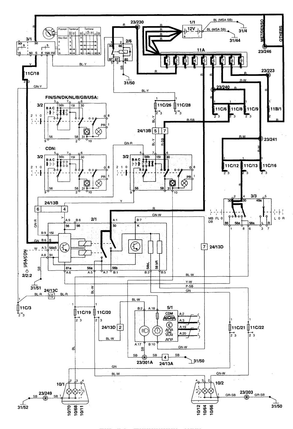 2000 volvo c70 wiring diagram