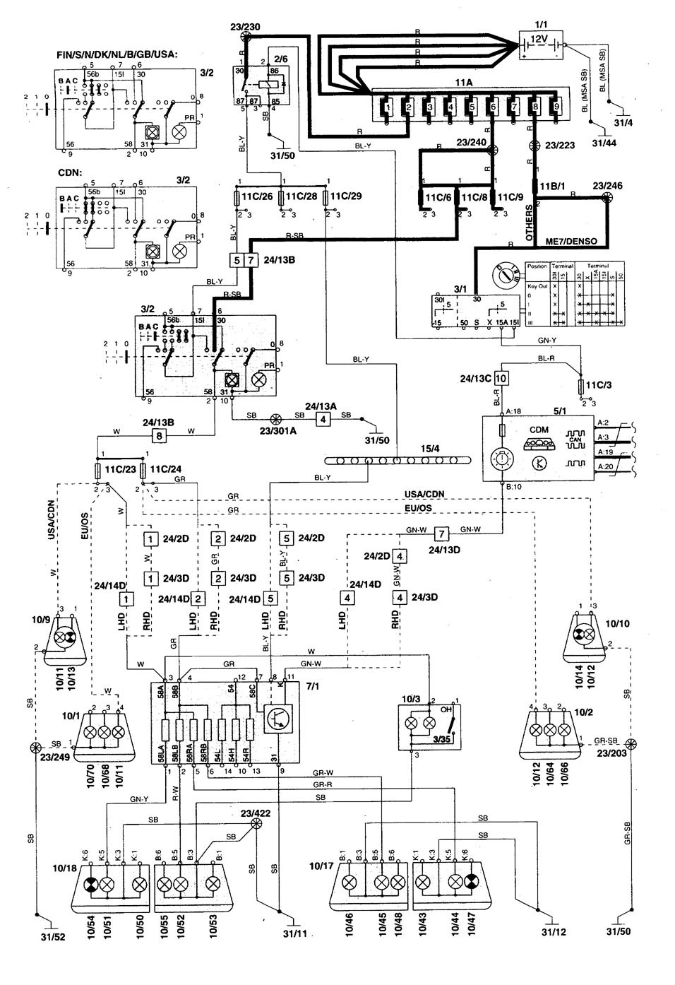 2000 volvo s70 fuse box diagram