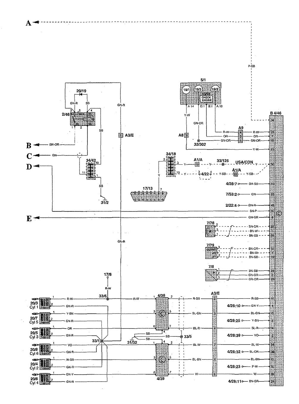 1997 volvo s90 engine diagram