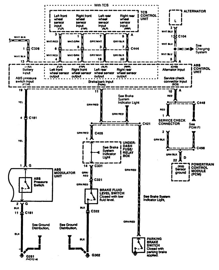 wiring diagram for 1997 acura rl