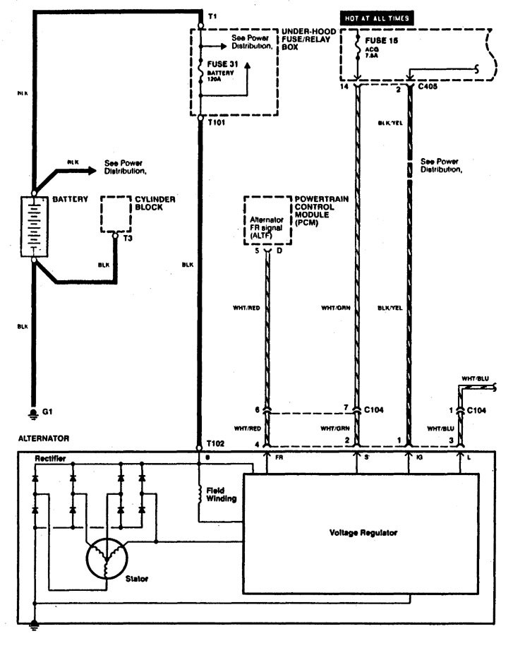Alternator Wiring Diagram Toyota Toyota alternator wiring diagram