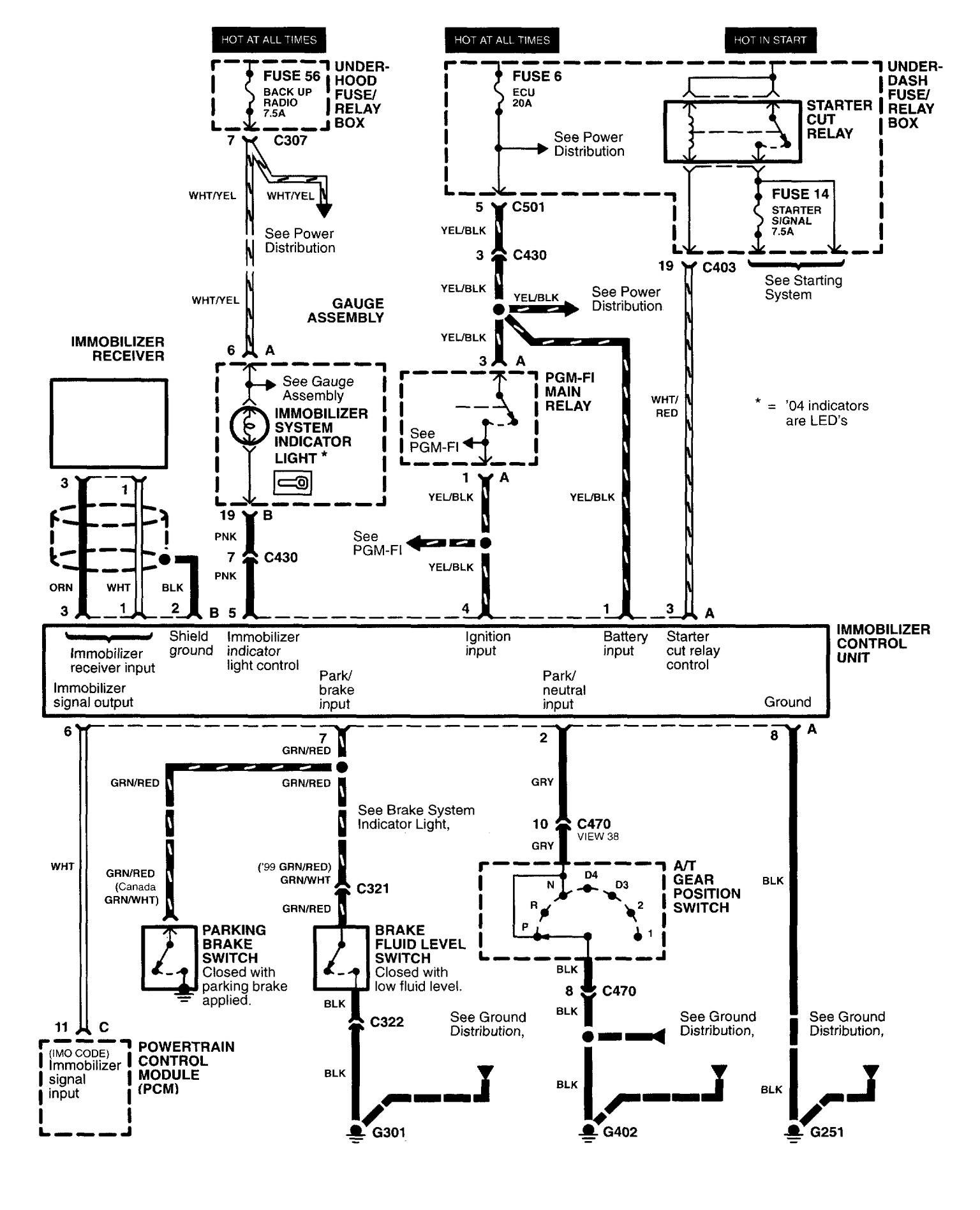 1997 honda sport fuse diagram