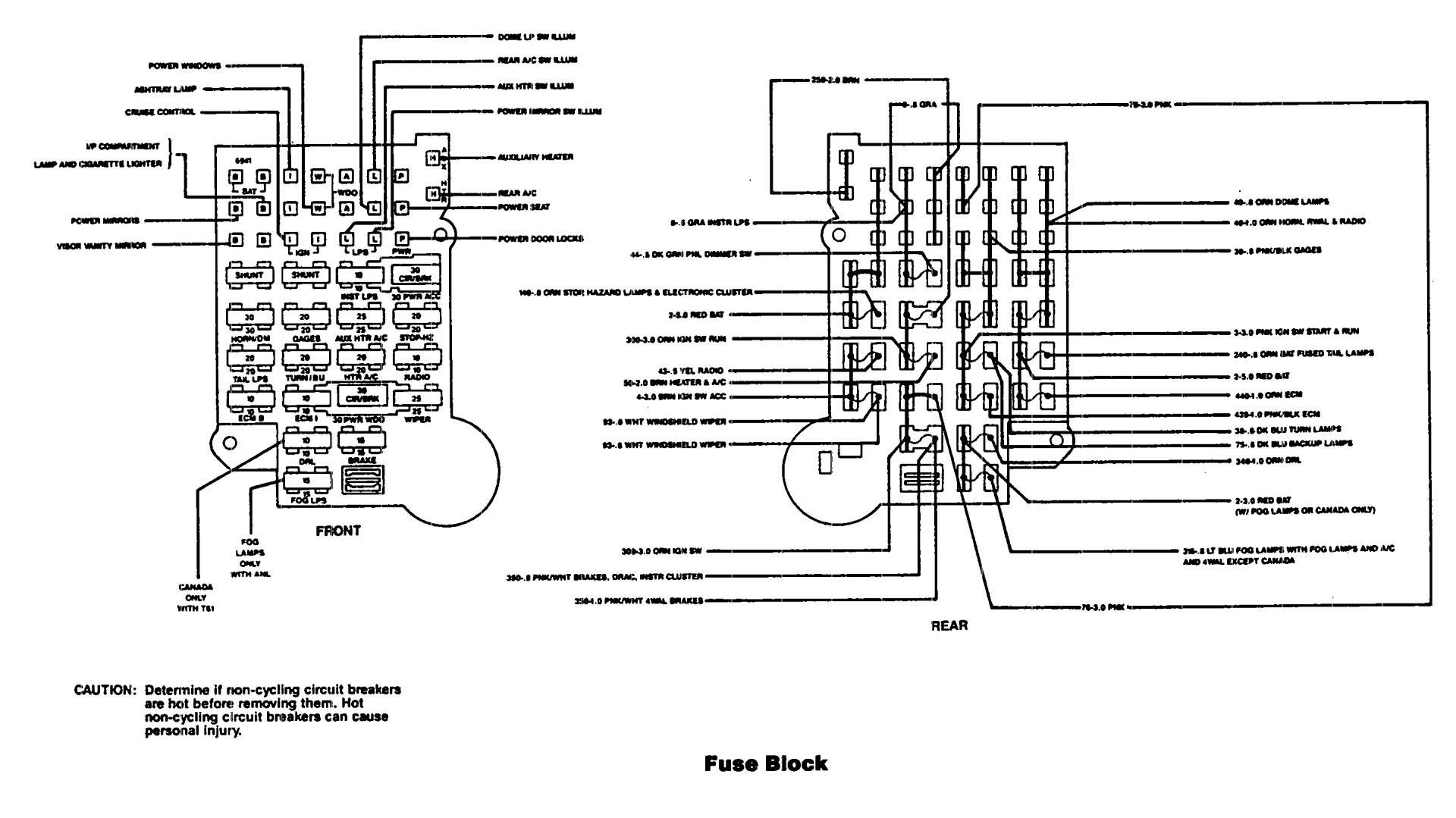 [WRG-9424] 1990 F350 Fuse Box Diagram