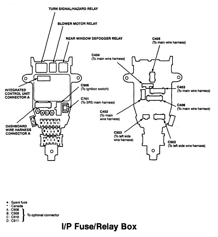 1997 acura cl fuse box diagram