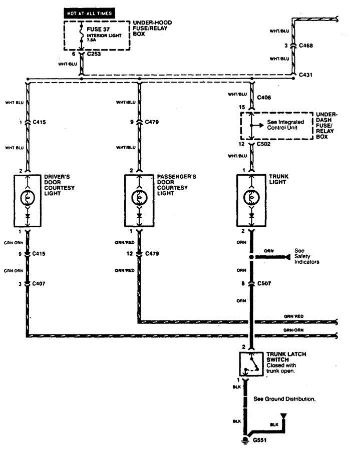 1997 acura cl wiring diagrams
