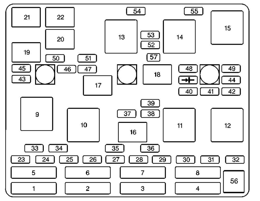 2000 chevrolet s 10 fuse box diagram