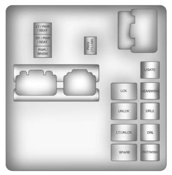 Chevrolet Traverse (2011) \u2013 fuse box diagram - CARKNOWLEDGE