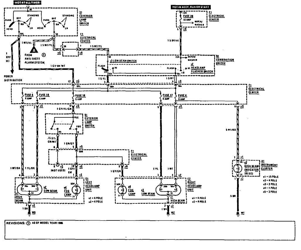 1982 mercedes 380sl fuel filter location