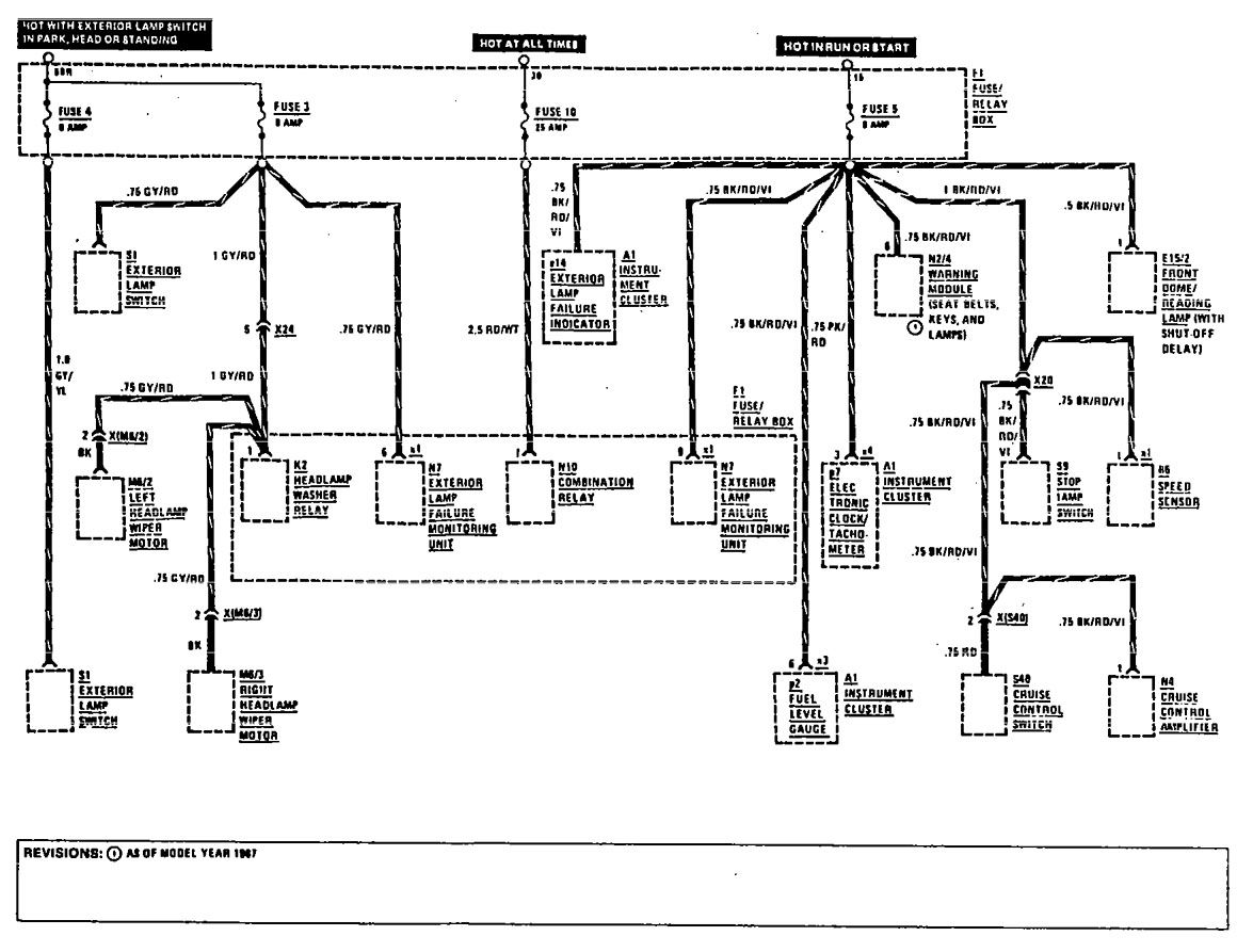 1990 mercedes benz 300 fuse box diagram
