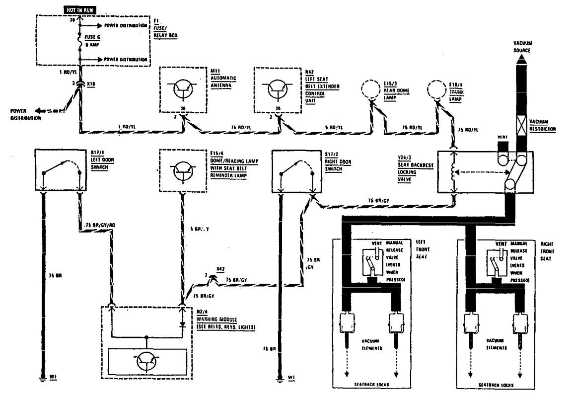 sl500 mercedes benz power seat wiring diagram