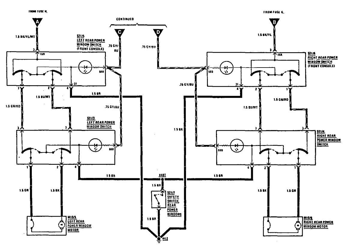 mercedes benz 300e fuse box diagram