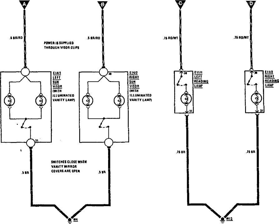 circuit diagram of reading lamp