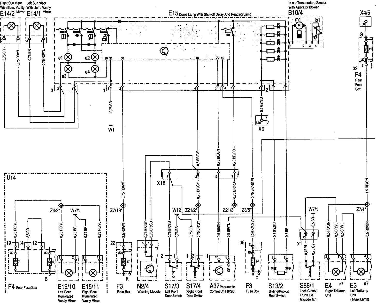corvette c4 door wiring diagram