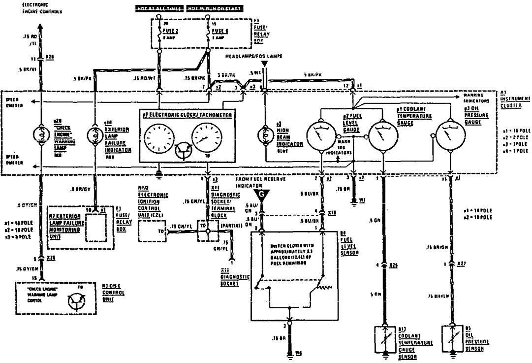 1994 mercedes benz 420 sel fuse box diagram